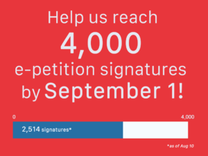help us reach 4000 e-petition signatures by September 1 for corporate accountabiity