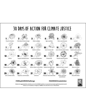 Climate Action Month - 30 Day Challenge Card