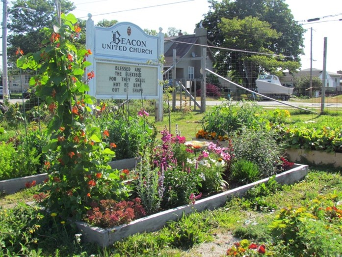 Beacon United's gardens are central to its green renewal. Credit: Ecology Action Centre