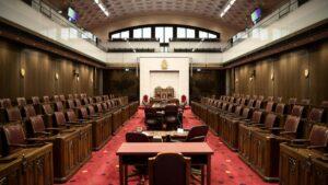 interim chamber in the Senate of Canada Building