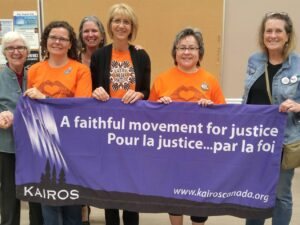 KAIROS friends with Phyllis Webstad (second from the right) at a 2018 Orange Shirt Day event in Langley, BC.