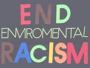 end environmental racism sign