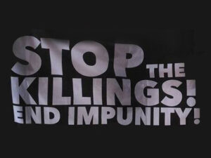 Stop the killings, end impunity