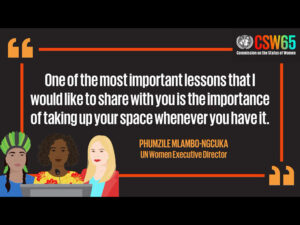 quote from UN Women Executive Director, Phumzile Mlambo-Ngcuka