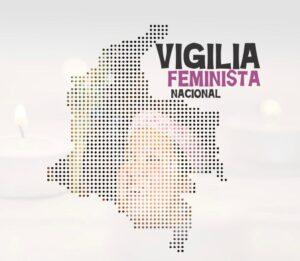 "Digital flier that reads ""National Feminist Vigil"