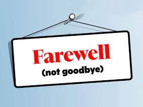 farewell (not goodbye)