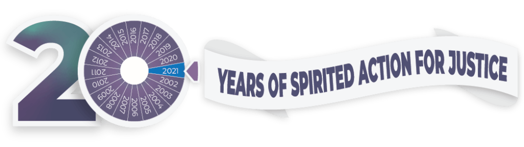 20 years of spirited action for justice