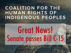 Great News! Senate passes Bill C-15
