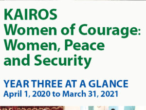 KAIROS women of courage: women, peace and security - Year three at a glance