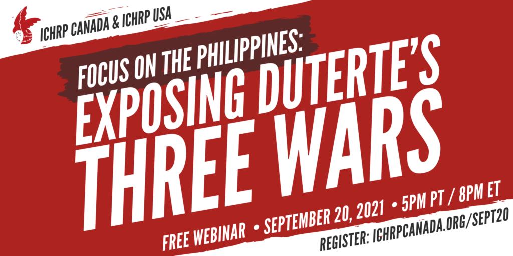 exposing Duterte's three wars - webinar