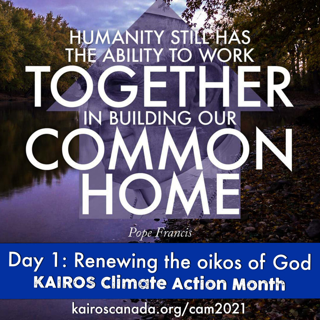 Humanity still has the ability to work together in building our common home, DAY 1 of Climate Action Month: renewing the oikos of God