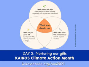 """Dr. Ayanna Elizabeth Johnson can help you answer thequestion""""What can I do?""""and discern your own personal gifts for climate action.She used a Venn diagram in her own life tosee where there wasoverlapinher talentsandinterestsand the problems she wanted to help solve."""