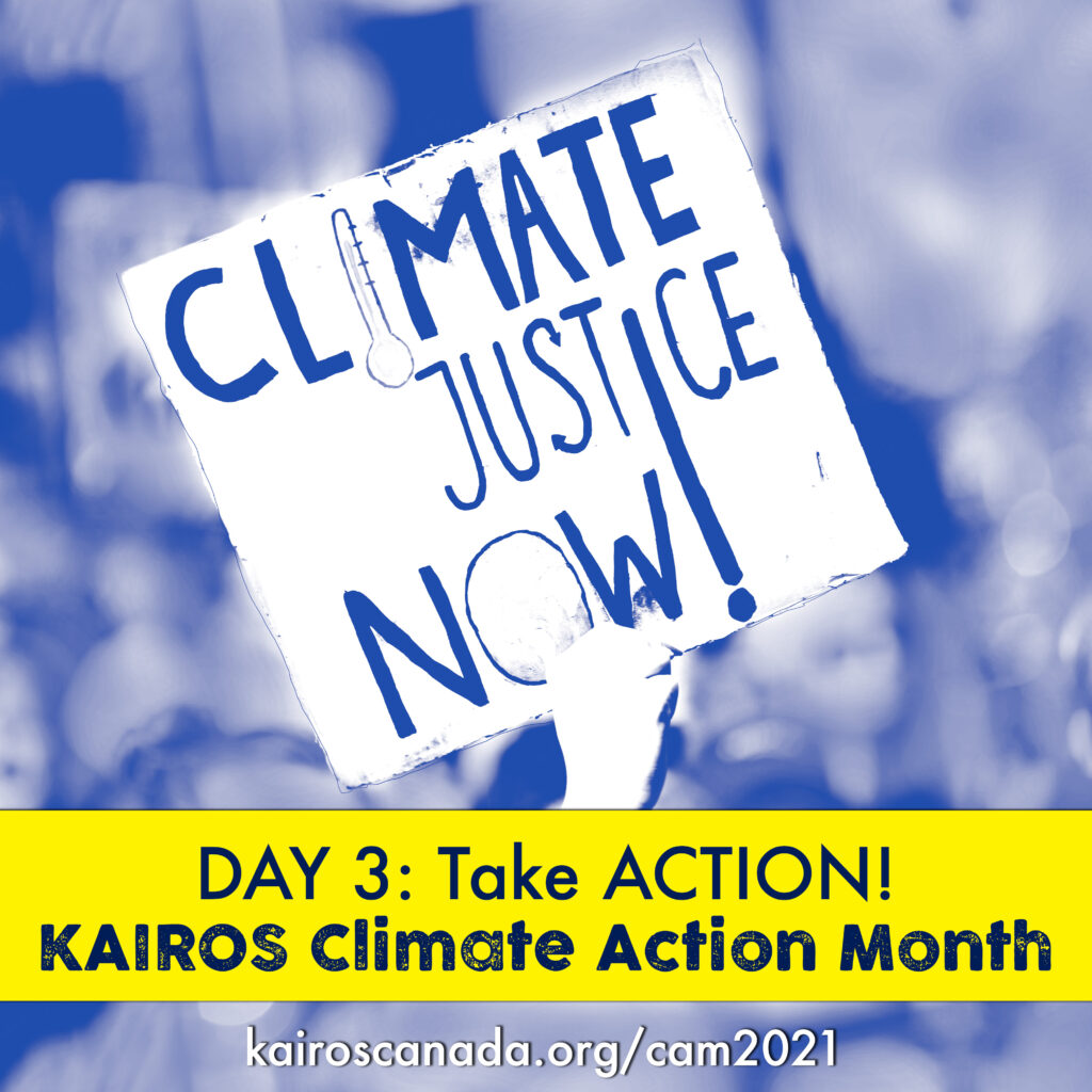 DAY 3 of Climate Action Month: TAKE ACTION!
