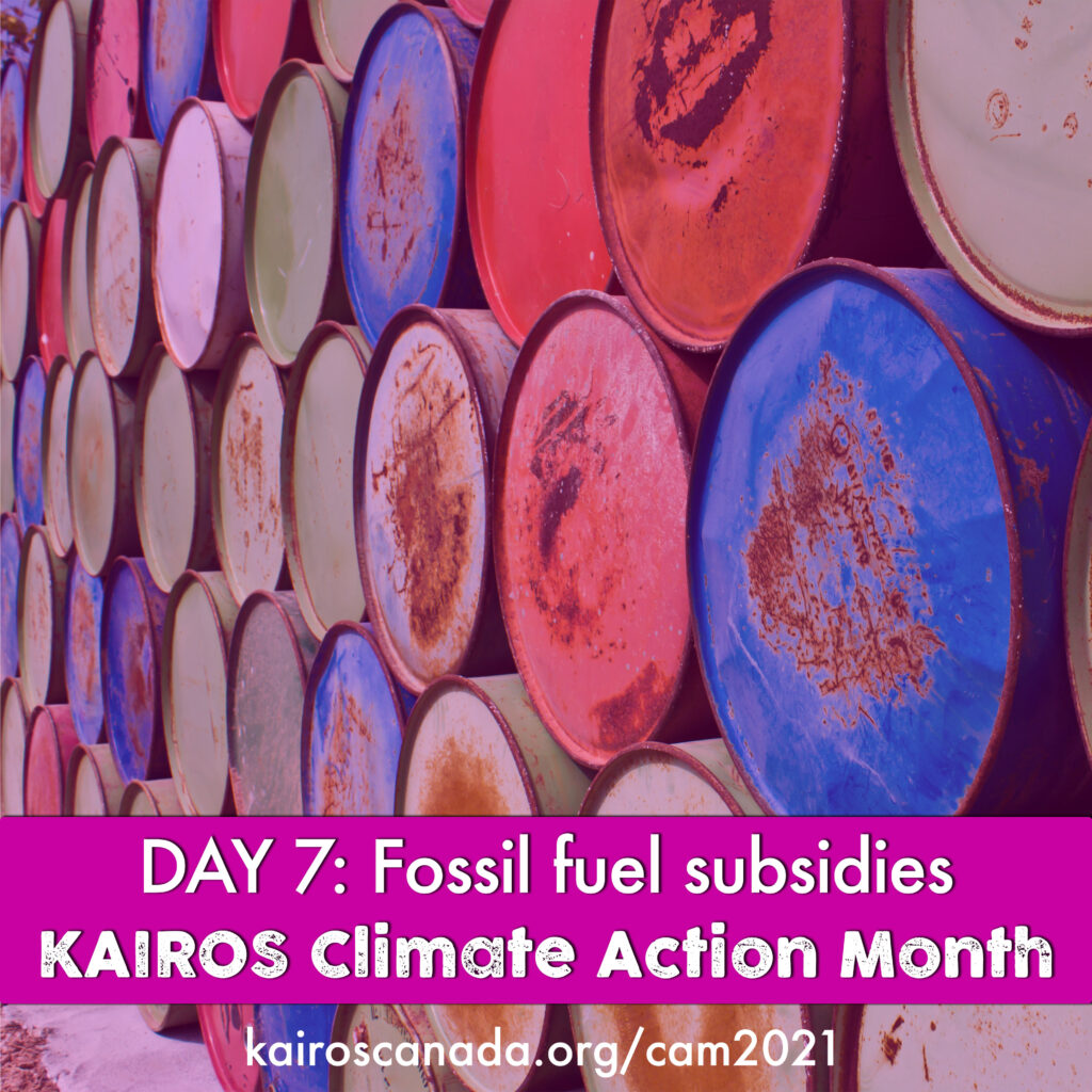 DAY 7 of Climate Action Month: fossil fuel subsidies
