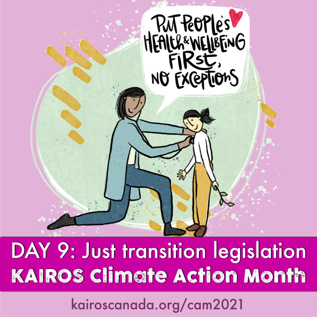 DAY 9 of Climate Action Month: just transition legislation