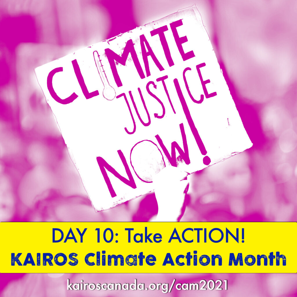 DAY 10 of Climate Action Month: TAKE ACTION!