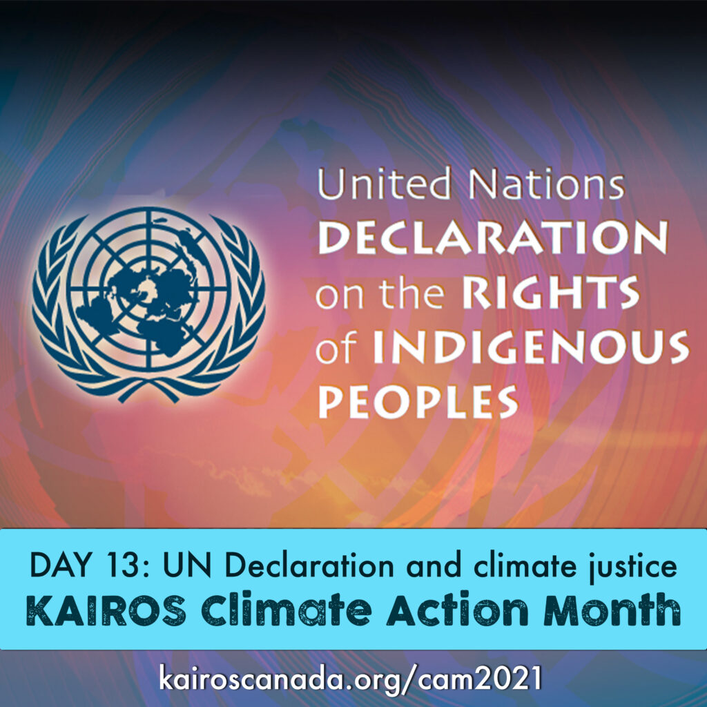 DAY 13 of Climate Action Month: Un Declaration and climate justice