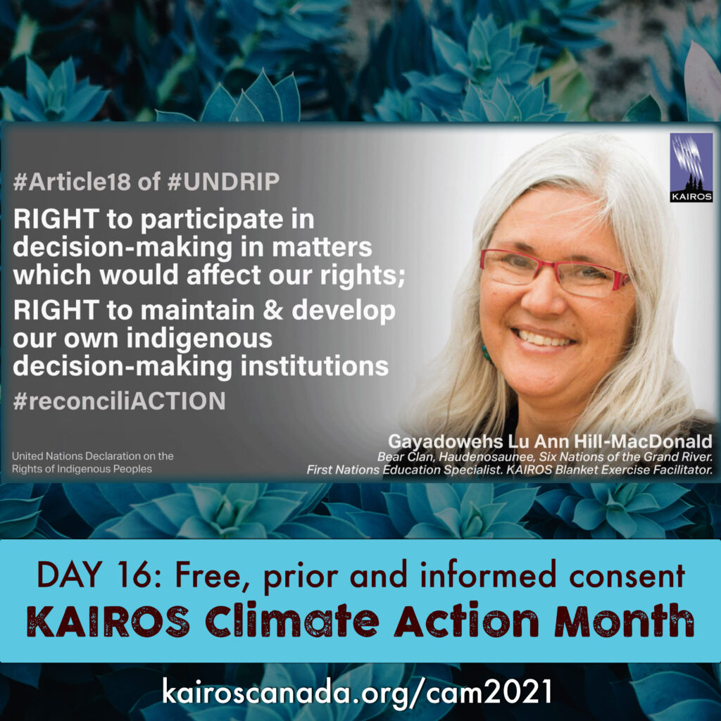 DAY 16 of Climate Action Month: Free, prior and informed consent
