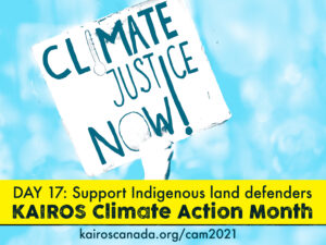 DAY 17 of Climate Action Month: TAKE ACTION! Support Indigenous land defenders