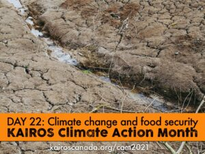 DAY 22 of climate action month, Climate change & food security