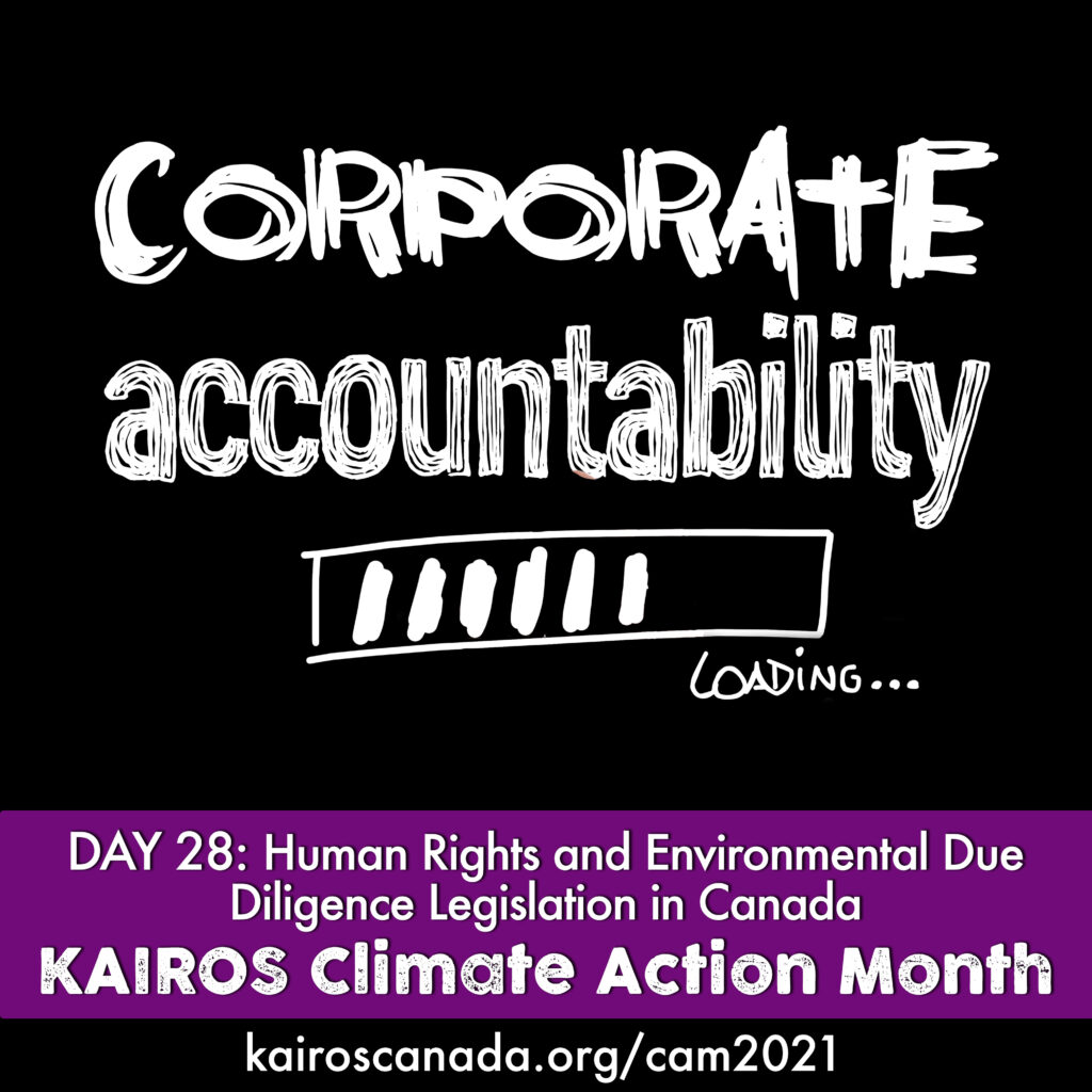 DAY 28 of climate action month, corporate accountability