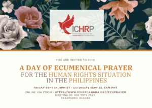 A Day of Ecumenical Prayer for Human Rights in the Philippines