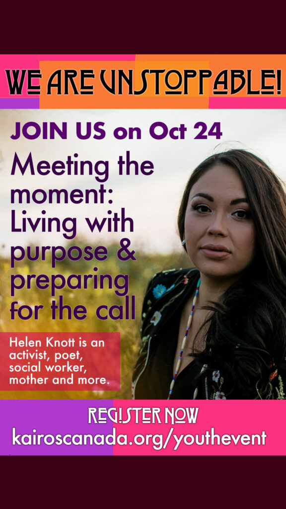 We are unstoppable workshop with Helen Knott, October 24, 2021