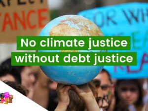 no climate justice without debt justice