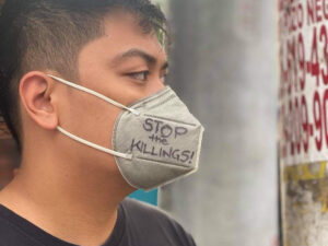 stop the killings mask, in the Philippines