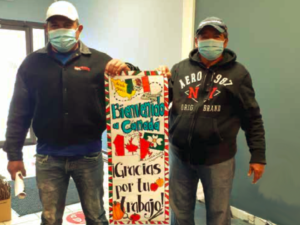 Migrant workers, pictured, were welcomed by the Simcoe community at the Centre for Migrant Workers Solidarity, a partner of KAIROS' Empowering Temporary Foreign Workers during COVID-19 project.